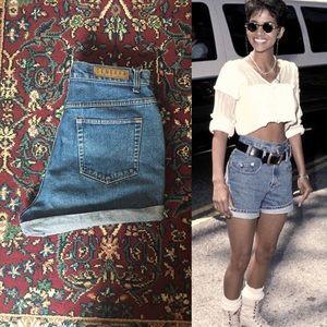 90s Generra Dark Wash High Waisted Denim Shorts